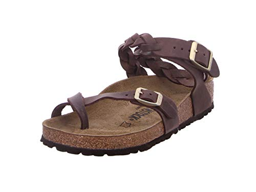 BIRKENSTOCK Yara Braided Habana Oiled Leather Damen, habana,  37 EU, Habana