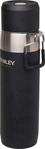 Stanley Master Quadvac vacuüm-thermosfles, 0,65 l, 18/8 roestvrij staal, dubbelwandig, vacuüm-geïsoleerd, lekvrij, thermosfles, 18 uur warm of koud