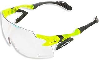 ノーズパッドレススポーツサングラス バイク ネオンイエローフレーム 調光レンズ 新サイドパッド搭載 シールドレンズ ユニセックス AF-301 C-31BK