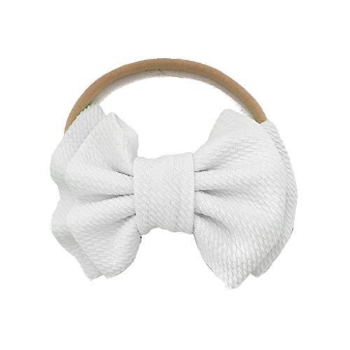 VIccoo baby haarband, grote boog hoofdband meisjes nylon strik hoofdbanden grote boog haar turban Infant Head Band Bebes Infant Headwrap - geel