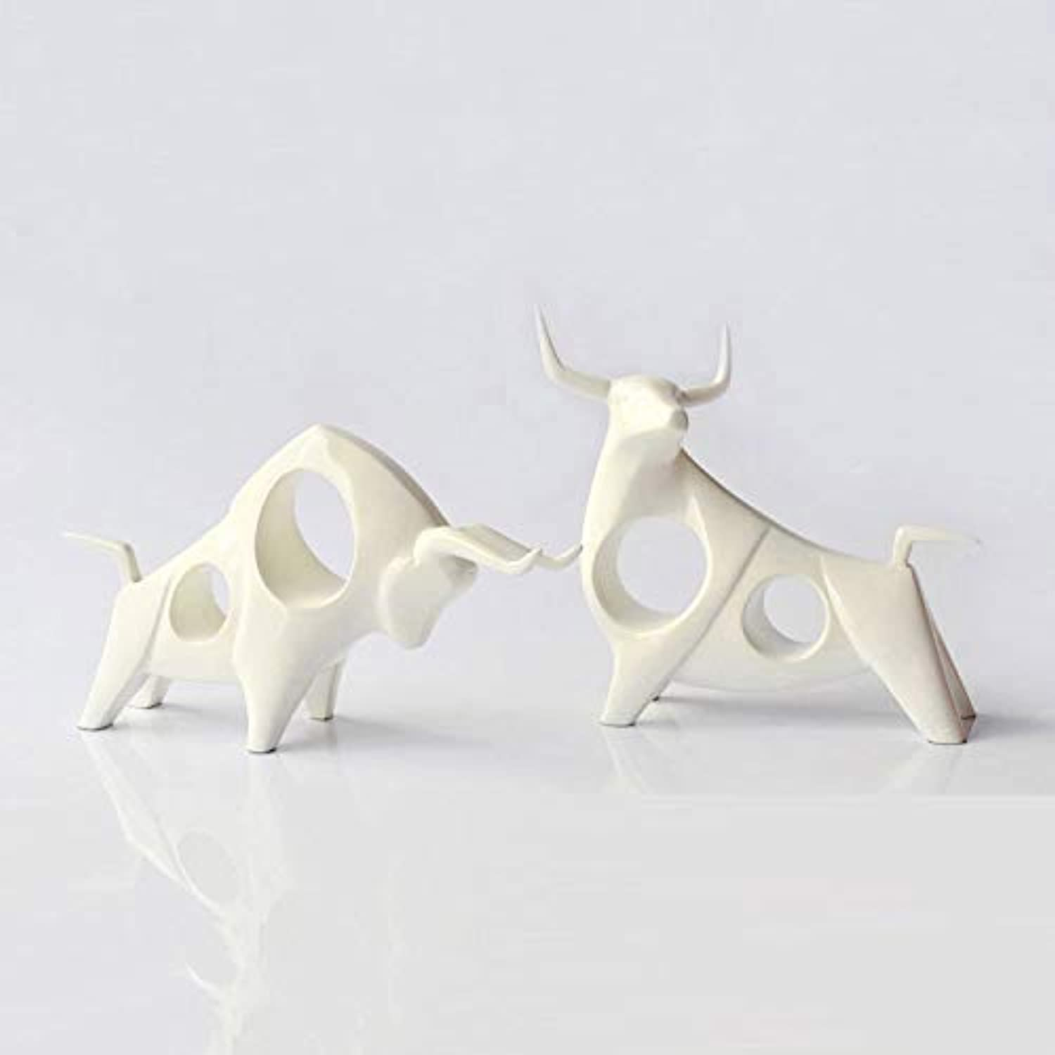 Home Decoration Hotel Bedroom Nordic Creative Home Accessories TV Cabinet Decoration Animal Cattle Resin Crafts,B