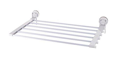RIDDER Comfort Wäschetrockner mit Saugnapf, ABS (Acrylnitril-Butadien-Styrol), weiß, ca. 605x120x440 mm