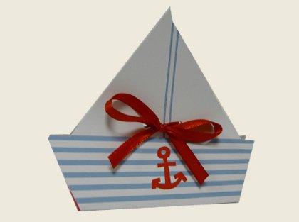 lot de 5 Ballotin à dragées Petit bateau - pour baptême mariage communion - ballotin à dragées design et moderne