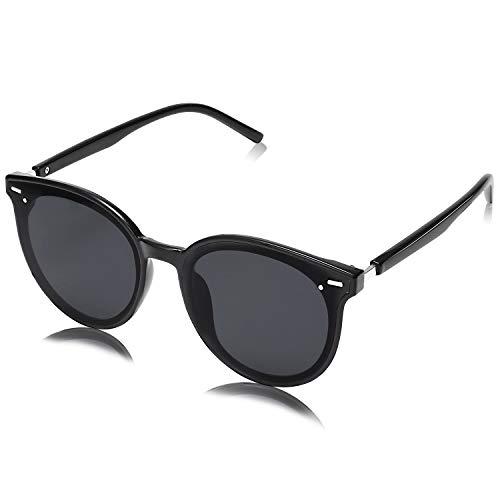 SOJOS Classic Round Retro Plastic Frame Vintage Large Sunglasses for Women Men BLOSSOM SJ2067 with...