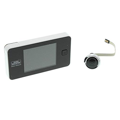 BURG-WÄCHTER Digitaler Türspion Door eGuard, Elektronischer Türspion mit Kamera und Monitor, Ohne Nachtsicht, Türstärke 38-110 mm, 3,2 Zoll Display, DG 8100, Schwarz/Weiß