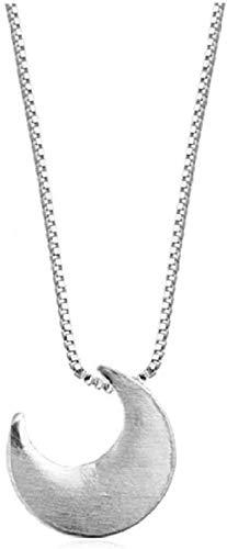 UAGXFC Collar Cepillado Media Luna Colgante Collar Caja Cadena Collar Joyas Collar