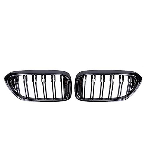 XYRDM Rejilla de riñón, Carreras Delanteras para BMW Nuevo 5 Series G30 G38 525i 530i 540i 550i 17-20 m Performance Parachoques 2 Llantas Parrilla Reemplazo,Gloosy black1