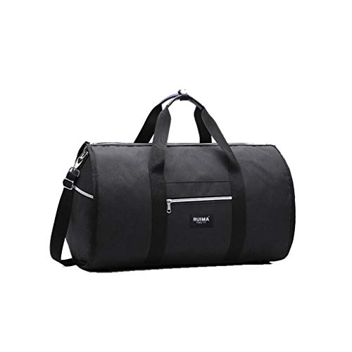 Posional Convertible New 2 in 1 Travel Bag Shoulder Luggage Hangeroo Two-in-One Garment Bag Duffel Bag for Men Women (Black)
