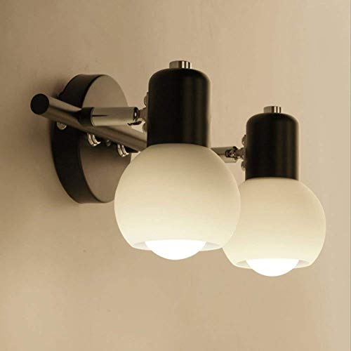 KLMNV; KLBVB sfeervolle houdbaarheid WDHBD moderne spiegelverlichting badkamerspiegel lampen spiegel frontlamp make-up lamp ijzeren kunst-zwart (Kleur: 2 licht). 2 lichtjes.