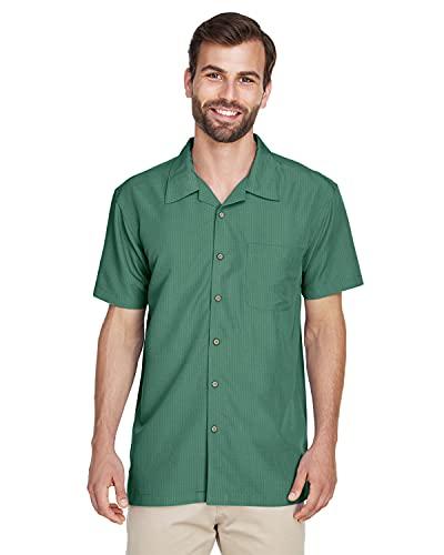 Harriton M560 Men's Barbados Textured Camp Shirt XX-Large Palm Green