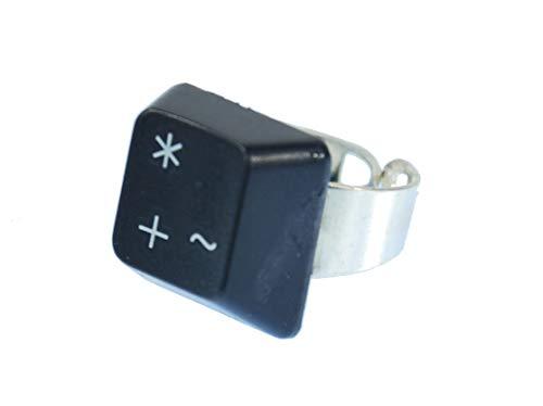 Miniblings Tastaturring PC Zeichen Plus Stern Taste Ring Computer Tastatur Tasten - Handmade Modeschmuck I Fingerring mit Motiv I verstellbar one Size