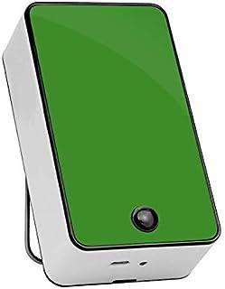 Mini Aire Acondicionado de Mano USB/Mini Aire Acondicionado/radiador portátil con plástico ABS, Aire Acondicionado y Ventilador, Dos Modos comunes,Green