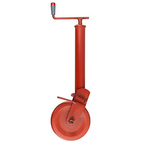Stützrad mit Stahlblechrad | 1500 kg Stützlast | 300 mm Spindelhub | Anhänger | Traktor | Trecker | Stützrohr | Schlepper | halbautomatischer Klappvorgang | Federverriegelung