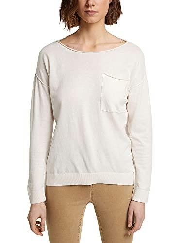 ESPRIT Mit Seide: Pullover mit Brusttasche