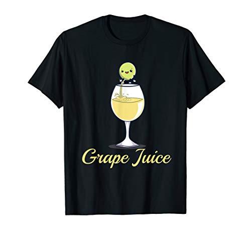 Traubensaft Saft Traube Pinkeln ins Glas Comic Geschenk T-Shirt