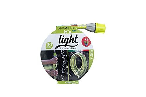 Idroeasy Armadillo Superlight 7,5 Metri, Tubo da Giardino, Tubo Acqua Giardino Super Leggero, Canna Acqua Irrigazione Anti Nodo e Anti Torsione Made in Italy