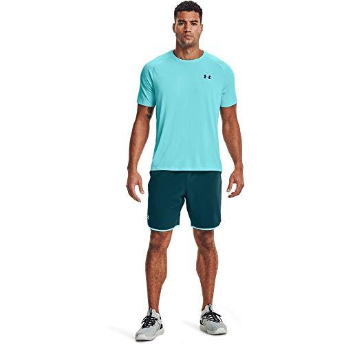 Under Armour Qualifier Train Shorts Pantalones Cortos, Cian Oscuro (463)/Breeze, 38 para Hombre