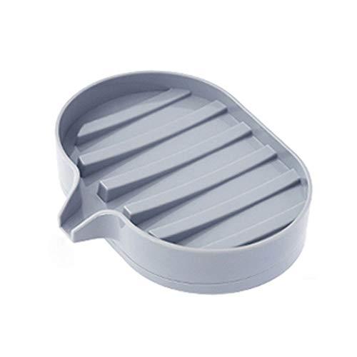Wdonddonfzh Jabonera con desagüe, Platos de jabón for baño, Platos de jabón for Ducha, Bandeja de jabón seco for Cocina/mostrador (Color : Gray)