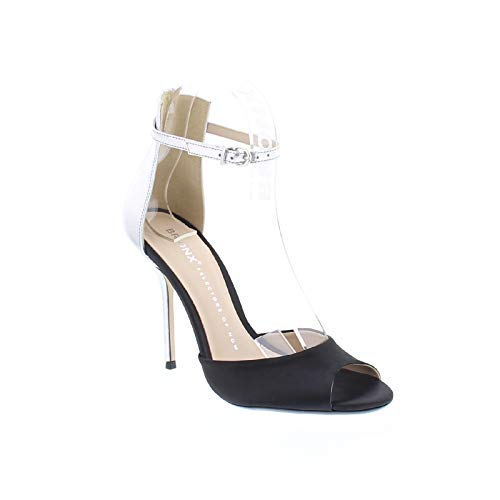 Bronx High Heels 84604-D Catarina Pumps Stiletto Peeptoe, Größe:39 EU, Farbe:Schwarz