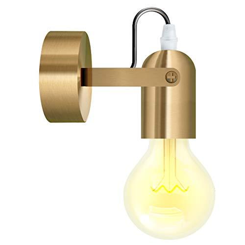 MIFIRE Golden Vintage Wandlampe UP/DOWN Industrie Wandleuchte E27 Fassung für Haus, Bar, Restaurant, Café Loft Bar(Ohne Glübirne)
