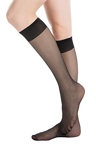 [MANZI] レディース ひざ下丈 ストッキング ソックス ベージュ 伸縮性 透明性 12足組