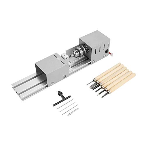 Find Bargain Woodworking Polishing Machine, Mini Lathe Beads Polisher Jewelry Beads Polishing Grindi...