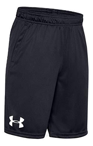 Under Armour Boy's Shorts (Black/Black/White, Medium)
