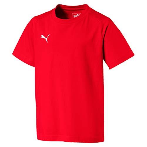 PUMA Liga Casuals Tee Jr, Maglietta Unisex-Bambini, Rosso Red White, 164