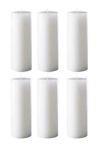 Spiritual World Home Decorative Highly Fragranced Gardenia Scented Aromatic Pillar Candles Long Burning Aromatherapy Christmas Candles Gift Set (Pack of 6) (4.5' x 2' Diameter)
