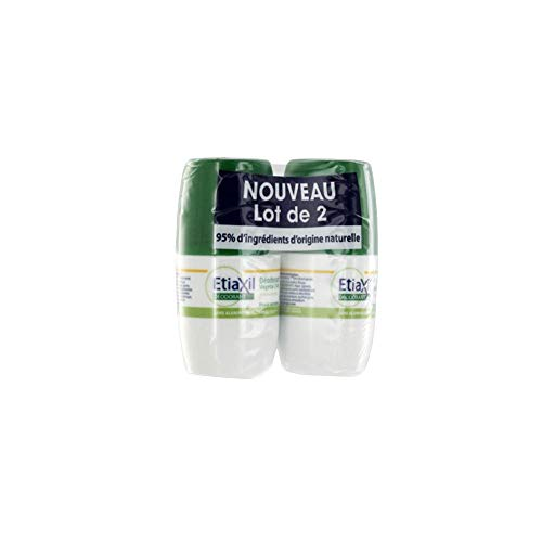 Etiaxil Déodorant Végétal 24H Roll-On Lot de 2 x 50 ml