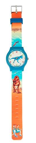 Depesche Reloj de Pulsera para niños con Correa de Silicona, diseño de Dinosaurio, a Prueba de Salpicaduras y sin níquel, 2 Modelos 6642