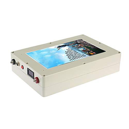 ZXWNB Batería De Alta Capacidad De 12V24V 100AH-500AH Batería Especial para RV Y Material De Metal De Carcasa De Aluminio De Coche De Cama De Barco,Blanco,H