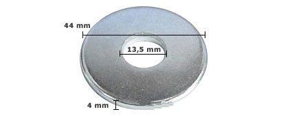100 Stck Unterlegscheibe DIN 440 verzinkt, M12