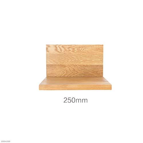 NUANXIN Massief hout TV muur Plank muur opbergplank L-vormige diafragma frame breed decoratief frame
