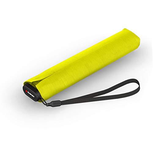 Knirps Taschenschirm Ultra US.050 Slim Manual – Ultra leicht und flach – Sturmfest – Windproof – 21 cm – Gelb