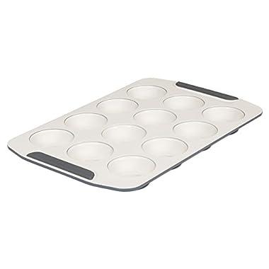 Viking 4040-3512-CGY Ceramic Nonstick Bakeware Muffin Pan, 12 Cup