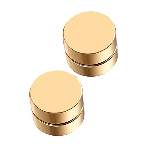 sharprepublic Juego de Aretes con Tachuelas Magnéticas para Hombres, Mujeres, Clip Sin Perforaciones en Medidores de Orejas Falsas