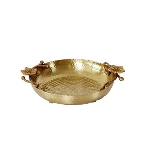Assiette décorative faite main en laiton motif marteau prune fait à la main