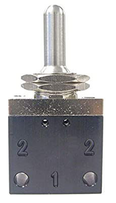 """PNEUMADYNE INC 3.03""""L Aluminum/Brass 3-Way, 3 Position, FNPT Toggle Valve with Spring Return Metal Toggle Handle by CAI - PNEUMADYNE INC"""