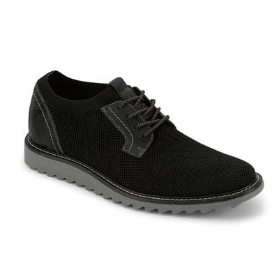 Dockers Mens Einstein Knit Smart Series Dress Casual Oxford Shoe, Black/Grey, 10.5 M