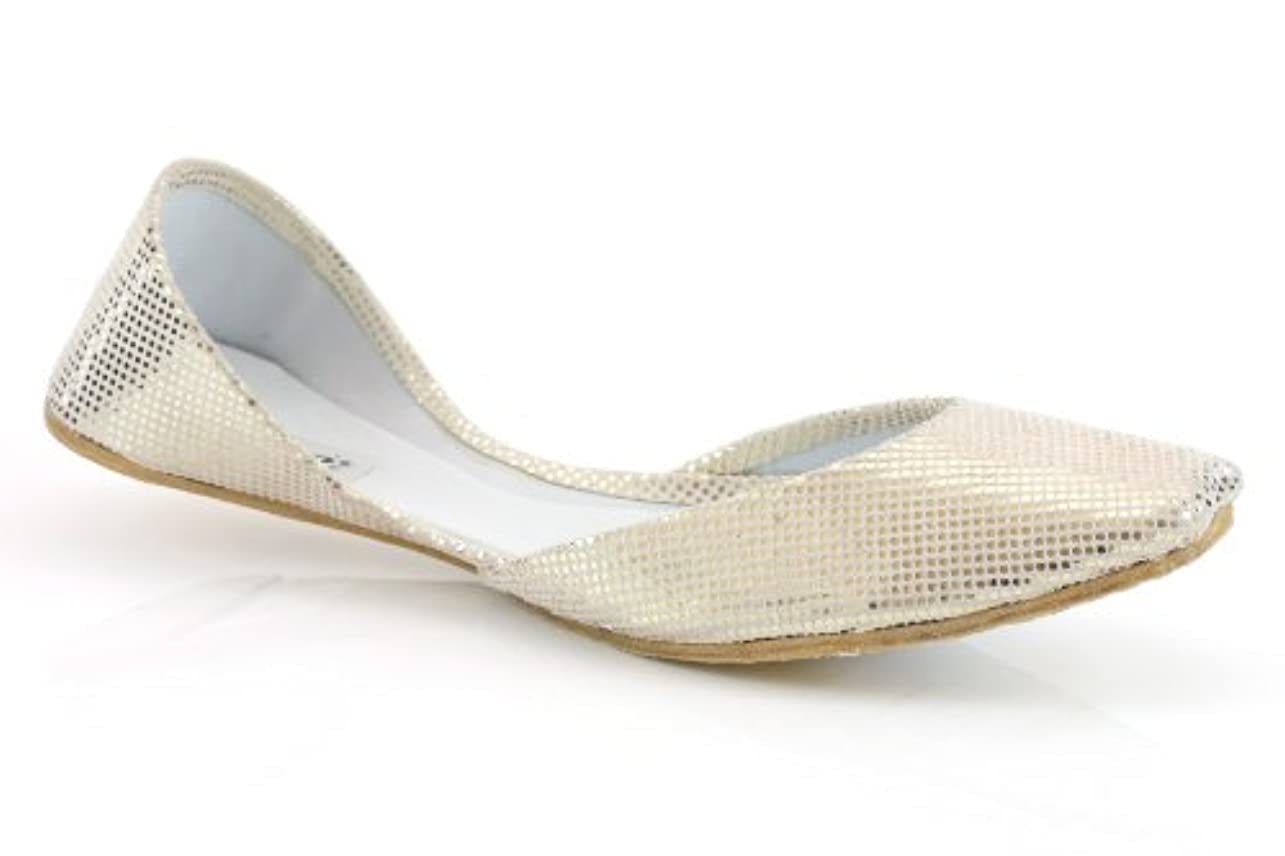 適格不機嫌研究所Unze Girls Handmade Leather Shiny Ballerina Slip On Indian Khussa Evening, Party Pump - 5447cs