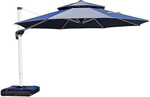 GFSDGF Terrasse Regenschirm im Freien Runde Regenschirm Große Freisteller Regenschirm Windschutz Offset Regenschirm Heavy Duty Sun Regenschirm Für Gartendeck