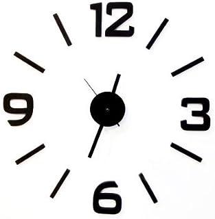 Vococal - Reloj de pared con números adhesivos - Color negro - Moda DIY Reloj de pared