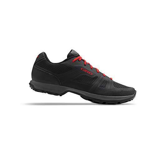 Giro Gauge Mens Mountain Cycling Shoe − 45, Black/Bright Red (2020)