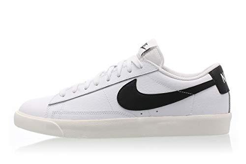Nike Blazer Low Leather, Zapatillas de básquetbol Hombre, White Black Sail, 39 EU