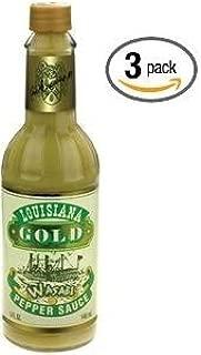 Louisiana Gold Wasabi Pepper Sauce - (3 Pack of 5 Oz.Bottles)
