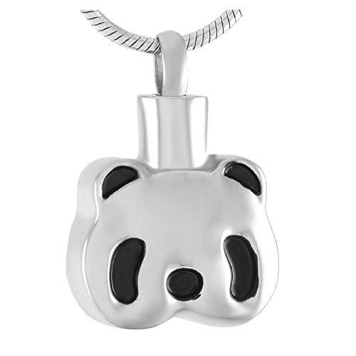Wxcvz Collar para Cenizas Lindo Panda Chino Urna De Cremación Collar Cenizas Mantener Pendiente Joyería Conmemorativa
