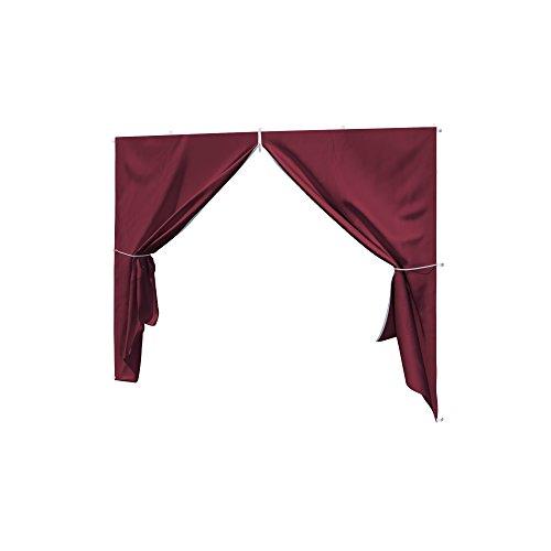 paramondo Seitenwand-Tür mit Reißverschluss für Faltpavillon Basic oder Premium Bordeaux