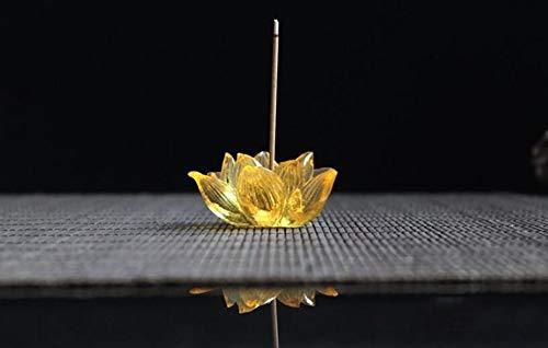 CompraJunta Räucherunterstützung, kreative Verglasung, Lotus-Stil, Heimdeko,Orange