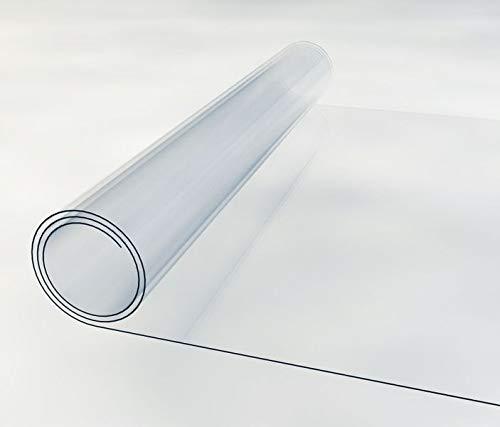 Tischunterlage Breite 50cm Transparent 2mm Tischfolie PVC Tischschutz Folie Weich Tischdecke Tischmatte Tischauflage Schutzfolie, Breite PVC:50cm, Länge PVC:40cm